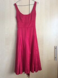 Monsoon red satin evening dress size 6/8