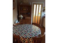 Kitchen table and chairs and Welsh Dresser