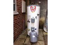 Megatech Solar Cylinder. Unvented mains pressure water heater.