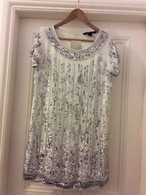 French Connection Stunning Embellished Dress Size 10