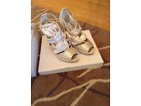 Satin sandals 3inch heels Size 7