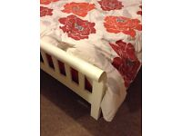 Solid wooden White Kingsize bed frame for sale, bargain less than half price