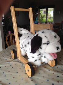 Push along Dalmatian Dog