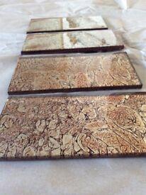 Lovely oblong glass tiles suitable for kitchen etc.
