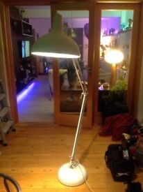 White adjustable standard lamp