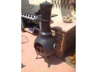 Cast iron garden chimnea