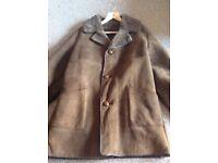 Genuine sheepskin coat - large teak brown coloured