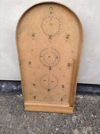 Antique Bagatelle Board Game Circa 1930 ish