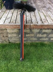 Brushes for sweeping a chimmey