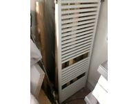 White towel radiator - bathroom - used condition