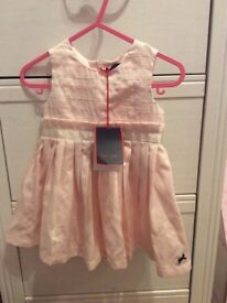 Baby girls pink silk Paul smith dress new with tags 0-6 months