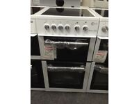 Flavel Milano E50 white& silver electric cooker. £225 new/graded 12 month Gtee