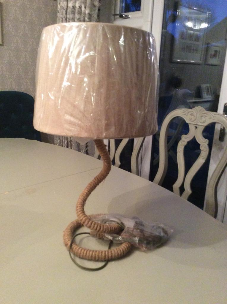 Brand new rope lamp