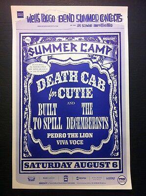 Death Cab For Cutie Decemberists Built To Spill Rare Bend Oregon Concert Poster