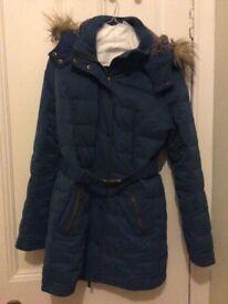 Fat face Coat size 12 teal / blue