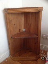 Wooden corner unit 33cm deep