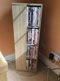 DVD/CD rotating wooden stand only £10