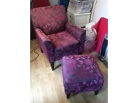 Next chairs and foot stool