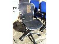 Herman Miller Aeron Chairs **SIZE'S A & B in stock** Huge selection & Free Local delivery