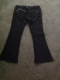 Black Bootleg Jeans
