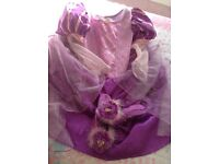 Disney tangled dress and shoes age7-8 years