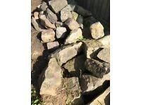 Different size rockery stones