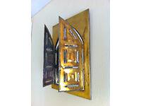 Vintage Brass Mirror Moorish Style