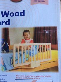 Clippasafe Natural Wood Bed Guard NEW