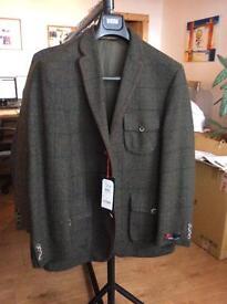 M&S Men's Tweed Jacket. Atelier Torino (Brand New) Size 40 Regular