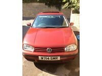 VW Golf 1.4 for sale, red, five doors, reliable drive