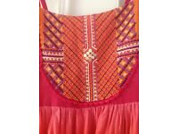 BHS age 12-13 pink and orange maxi dress