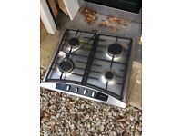 Neff double electric oven with gas hob