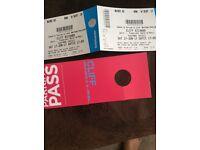 Cliff Richard concert tickets 17 June Eastnor Castle block A2 Row W plus parking