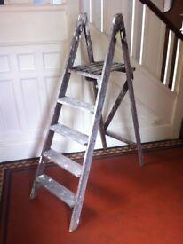 Vintage Decorators Ladders DIY Shelf Project Bookcase for Christmas Lights Decor / Can Deliver