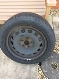 Skoda full size spare wheel