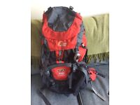 Rucksack / backpack Lowe Alpine TFDC Ridge 65-15 L in colour red