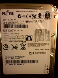 HDD Fujitsu 80GB SATA for laptop