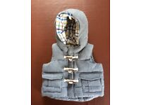 Baby Gap Boys 0-6 months Body Warmer / Gilet grey Excellent condition