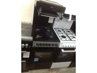 Beko high level grill single gas cooker black. £280. New/graded 12 month Gtee