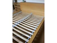 Ikea Malm Euro Kingsize Bedframe with Concealed Headboard Storage