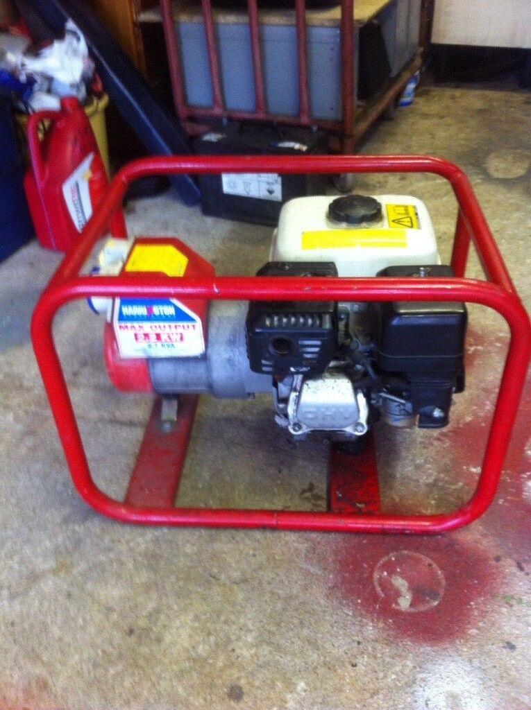 Honda Gx160 Generator. 5.5Hp. 2.7Kva.