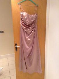 Kelsey Rose Size 14 Strapless Vintage Pink Bridesmaid Dress/Prom Dress