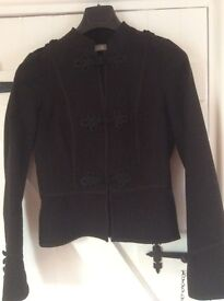 Stunning fitted black military jacket size 10
