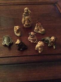 Collection of 8 wade whimsey figures
