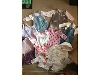 Baby girls clothes bundle size 0-3 months