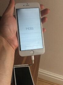 Apple iphone 6 plus white and silver