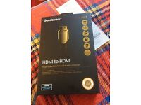Sandstorm gold series high speed HDMI to HDMI cable BRAND NEW