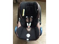 Maxi Cosi Cabriofix black/brown car seat cover and carrier (Please See below below)