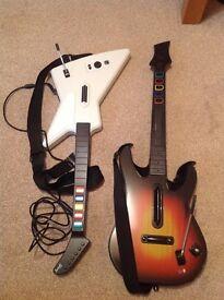 2 Guitar Hero Guitars XBOX 360 Only £10
