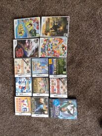 Job lot 4x Wii games, 8 X Nintendo ds games and 1 PlayStation2 game